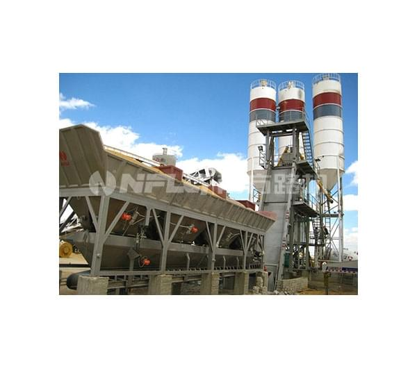 Skip-type concrete batching plant