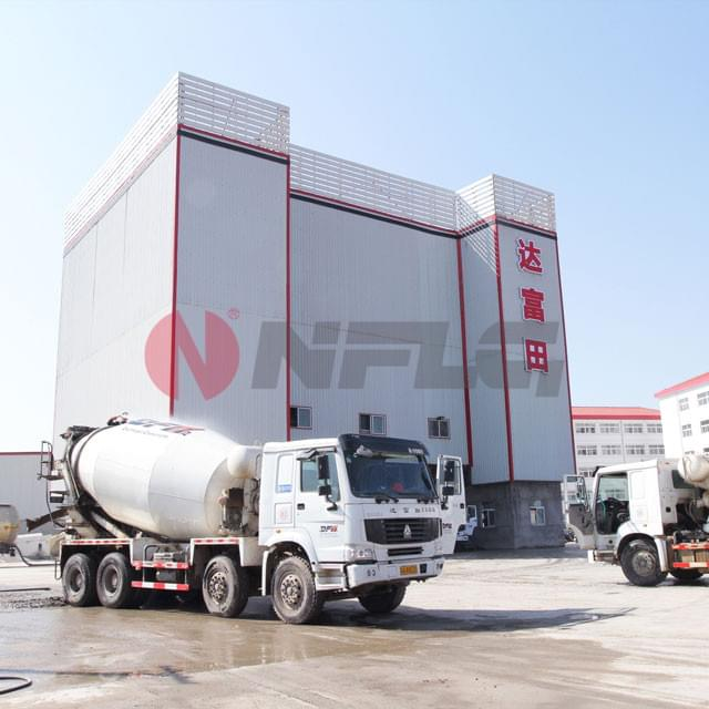 HZS-Fully-Environmental-friendly-Commercial-Concrete-Mixing-Plant